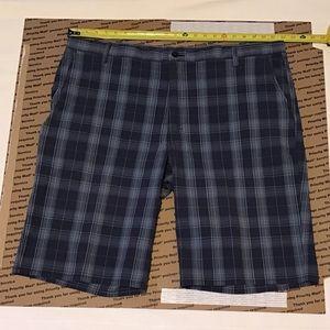 Mens dickies blue plaid shorts sz 44